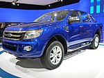 2010 Ford Ranger (T6) 4-door utility, prototype, photographed at the 2010 Australian International Motor Show, Darling Harbour, New South Wales, Australia.