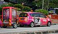 2011 Perodua Alza Encorp Strand Mall mobile advertising vehicle in Subang Jaya, Malaysia (02).jpg