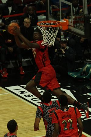 Julius Randle - Randle performs a reverse dunk during the 2013 McDonald's All-American Boys Game