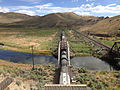 2014-06-21 15 48 40 Train crossing a railway bridge over the Humboldt River in Palisade, Nevada.JPG