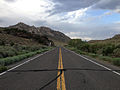 2014-07-18 18 47 55 View east along U.S. Route 6 about 124 miles east of the Esmeralda County Line in Nye County, Nevada.JPG