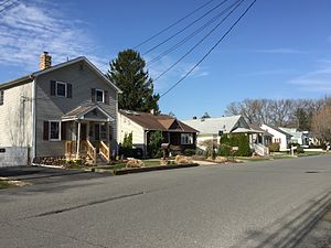 Braeburn Heights, New Jersey - Homes along Groveland Avenue in the Braeburn Heights section of Ewing, New Jersey