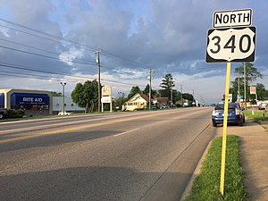 U.S. Route 340 in Virginia - View north along US 340 in Stuarts Draft