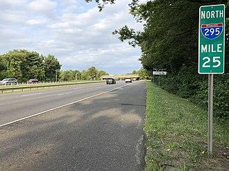 Westville, New Jersey - I-295 northbound in Westville