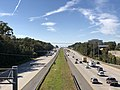 2018-10-22 14 01 49 View west along Interstate 66 from the overpass for West Ox Road (Virginia State Route 608) in Fair Lakes, Fairfax County, Virginia.jpg