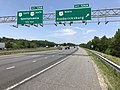 2019-05-29 13 11 18 View north along Interstate 95 at Exit 126A (U.S. Route 1 NORTH, Fredericksburg) in Fourmile Fork, Spotsylvania County, Virginia.jpg