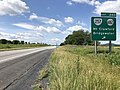 2019-06-06 10 44 38 View south along Interstate 81 at Exit 240 (Virginia State Route 257, Virginia State Route 682, Mount Crawford, Bridgewater) in North River, Rockingham County, Virginia.jpg