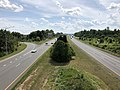 2019-08-17 15 13 45 View south along U.S. Route 15 and west along U.S. Route 340 (Jefferson National Pike) from the overpass for Interstate 70 in Ballenger Creek, Frederick County, Maryland.jpg