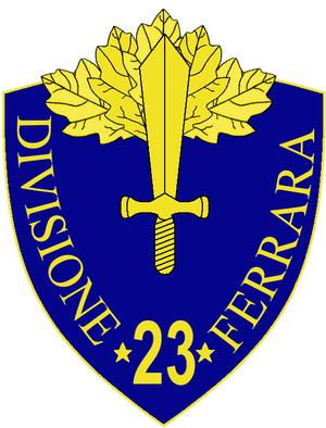 23rd Infantry Division Ferrara - 23rd Infantry Division Ferrara Insignia