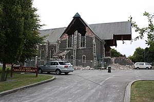 St Luke's Church, Christchurch - Image: 25 Feb 2011 595