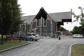 St Luke's Church, Christchurch - Image: 25 Feb 2011 595