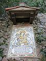 287 Montserrat, camí dels Degotalls, plafó ceràmic de Santa Maria de l'Estany.JPG