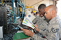 290th 'B-Flight' troubleshoot JBlox baseband equipment 150503-Z-TY576-011.jpg