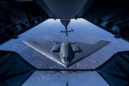 Aerial refueling of a B-2 Spirit
