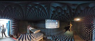 Anechoic chamber - 360 image of an electromagnetic anechoic chamber