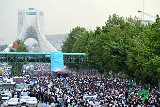 Iranian presidential election, 2009 - The Green Protest Rally in Tehran