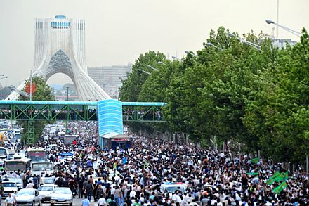 The Green Movement's Silent Demonstration during the 2009-10 Iranian election protests 3rd Day - The Green Protest Rally.jpg