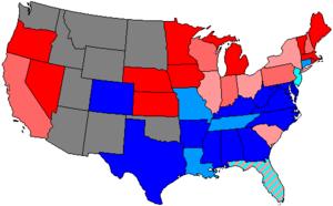 United States House of Representatives elections, 1876 - Image: 45 us house membership