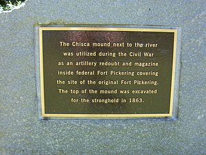 Fort Pickering (Memphis, Tennessee) - Plaque for Fort Pickering