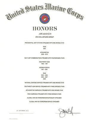 4th Civil Affairs Group - 4th CAG Honors