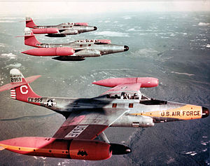 Northeast Air Command - 59th Fighter-Inerceptor Squadron F-89D-45-NO Scorpion interceptors stationed at Goose Bay AFB