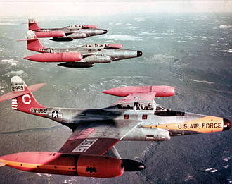 Northrop F-89 Scorpion - Formation of three F-89Ds of the 59th Fighter Squadron, Goose Bay, Labrador