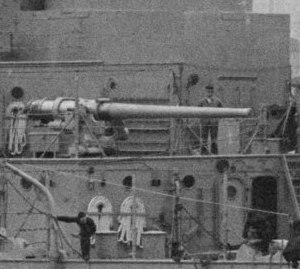"5""/51 caliber gun - Image: 5 inch gun closeup USS Texas 1914 LOC 16025"