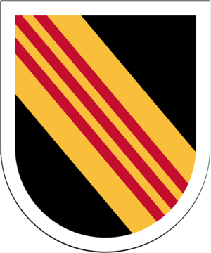 5th Special Forces Group (United States) - 5th Special Forces Group beret flash 1964–1985 and 2016–present