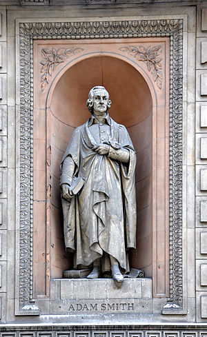 Adam Smith - Statue of Smith built in 1867–1870 at the old headquarters of the University of London, 6 Burlington Gardens