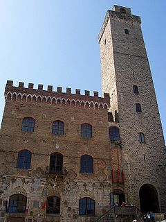 Palazzo Comunale, San Gimignano historic town hall in San Gimignano, Tuscany, Italy