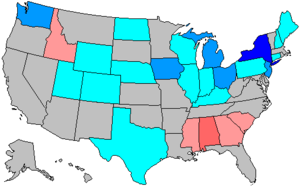 United States House of Representatives elections, 1964 - Image: 89 us house changes