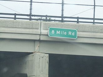 Numbered street - 8 Mile Road overpass