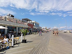 The boardwalk in Asbury Park