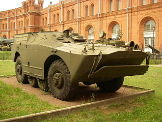 BRDM-1 - 9P110 tank destroyer in Saint Petersburg Artillery Museum