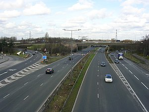 A5103 road - Image: A5103 junction