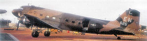 "Nha Trang Air Base - Douglas AC-47B-30-DK ""Spooky"" gunship Serial 44-76625 of the 4th Special Operations Squadron- March 1969"