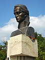 AIRM - bustul lui Mihai Eminescu din Iurceni, raionul Nisporeni - aug 2011.jpg