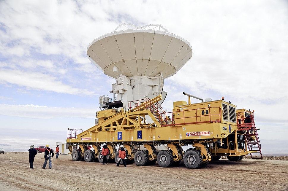 ALMA en route to Chajnantor (Scale)