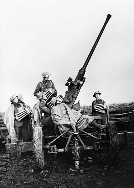 File:A 40mm Bofors anti-aircraft gun and crew near Douai, France, November 1939. O327.jpg