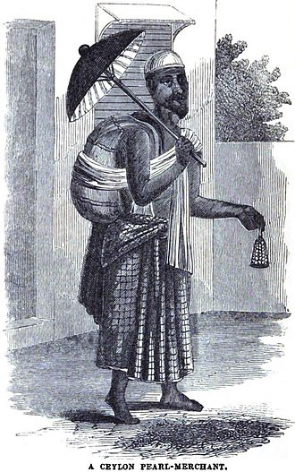 Pearl hunting - Image: A Ceylon Pearl Merchant (p.108, 1849) Copy