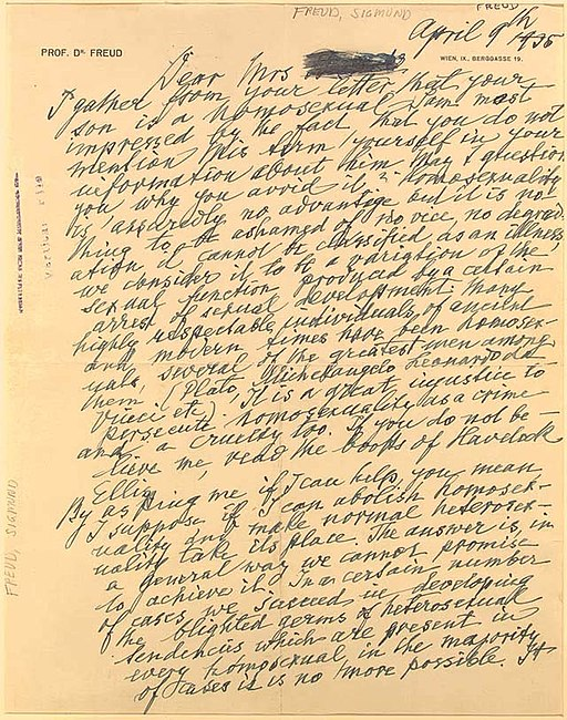 A Letter from Freud to a mother of a homosexual - 1935 - 1