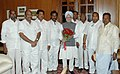 A delegation from Andhra Pradesh led by the former Andhra Pradesh Chief Minister, Shri N. Janardhana Reddy meeting with the Prime Minister, Dr. Manmohan Singh, in New Delhi on September 11, 2007.jpg