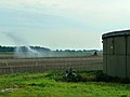 A field sprayer in the field between Smildeand Hooghalen; Midden-Drenthe 2012.jpg