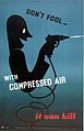 A foolish man playing with compressed air apparatus. Colour Wellcome L0026428.jpg