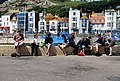 A group of students by the boating pond, Hastings. - geograph.org.uk - 1051116.jpg