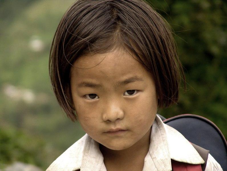 A little school girl from Sikkim
