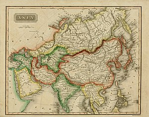 Sidney Edwards Morse - Map of Asia by Sidney Edwards Mors in 1825