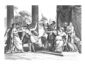 A painting depicting the killing of Roman ambassador by King Illyria.png