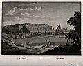 A view of the Charité and grounds, Berlin. Aquatint. Wellcome V0012220.jpg