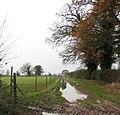 A waterlogged farm track - geograph.org.uk - 1060462.jpg